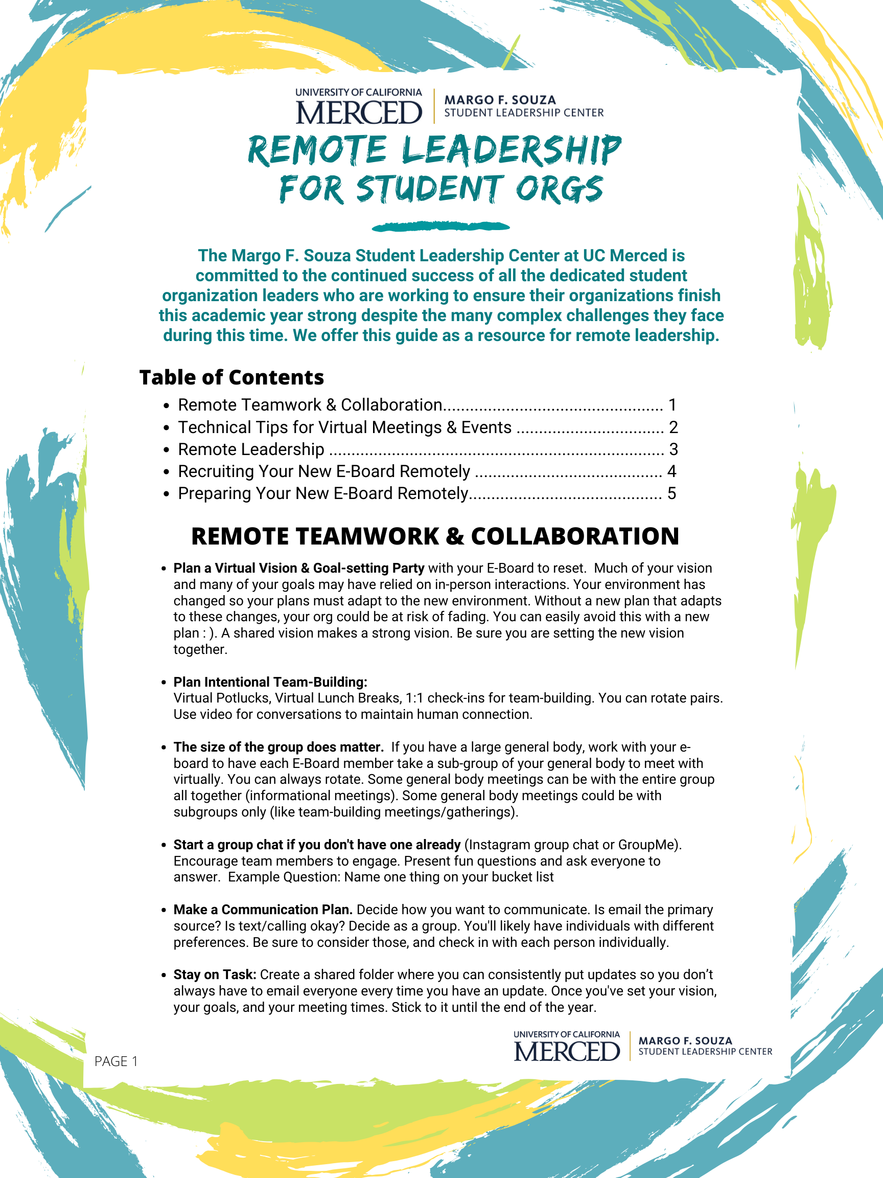 GUIDE: Remote Leadership for Student Organizations - Now Available!